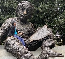 Memorial Albert Einstein, Washington. Bronze de Robert Berks