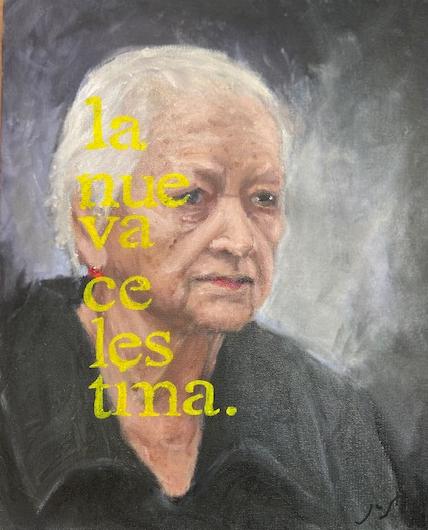 Celestina d après Picasso, Justino, óleo em tela, 24 x 30, 2018-20.
