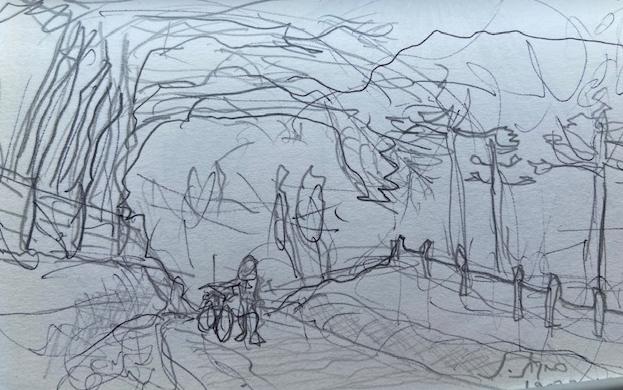 Série: Travessias - Gonçalves, Justino, lápis nº 2, 2016.