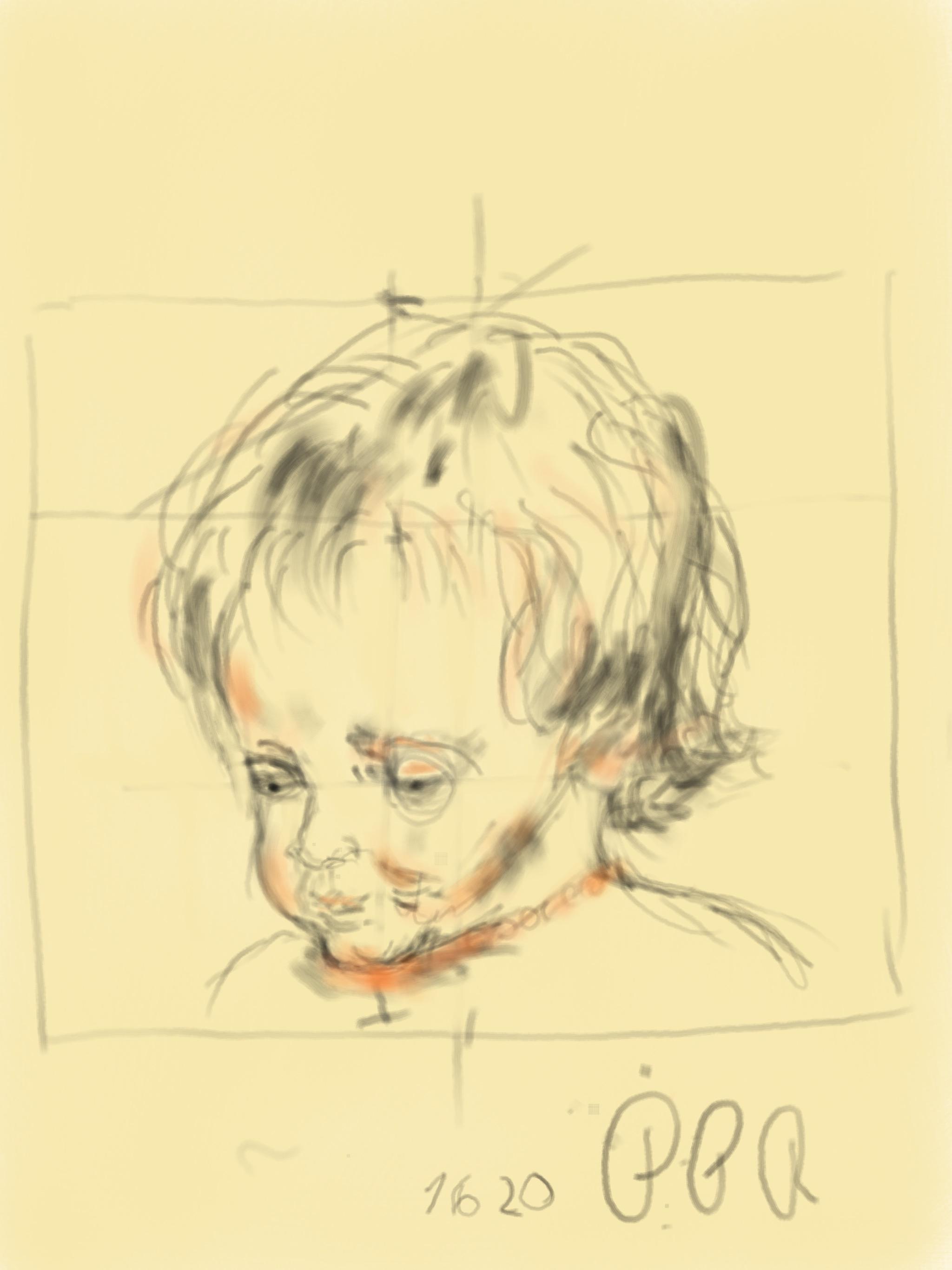 Pier Paul Rubens, Justino, iPad, 2019.
