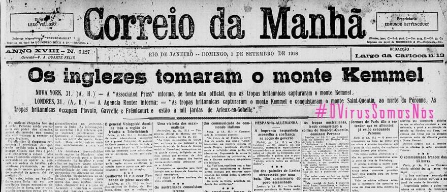 OVirusCorreioDaManha, Justino, 2020.
