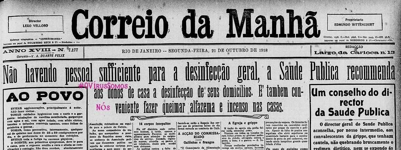 OVírusCorreioDaManha1918 , Justino, 2020.