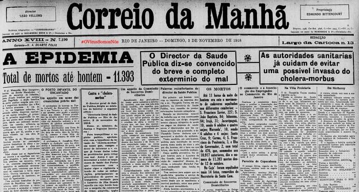 #OVírusSomosNós – Correio da Manhã, RJ, 1918: Parte2