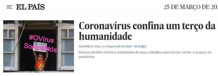 #OVírusSomosNós: Eliane Brum no ElPaís