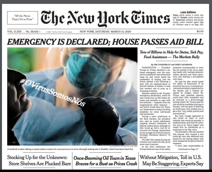 #OVírusSomosNós – NYT