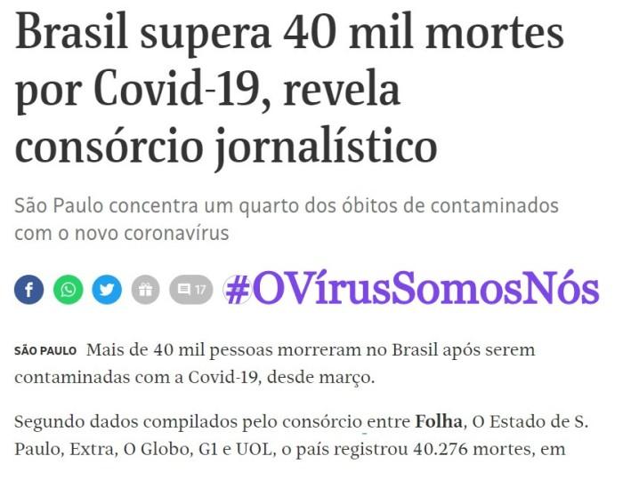 #OVírusSomosNós: Isso não pode estar acontecendo – VOLUME2