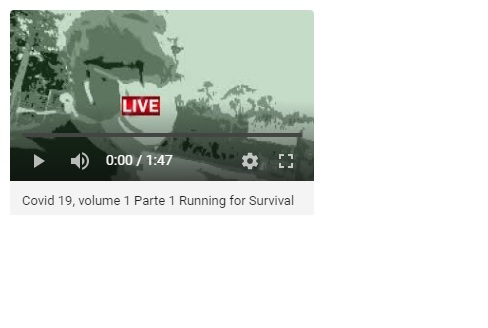 "Still do vídeo ""Running for Survival"", Justino, 1'47"", 2020."